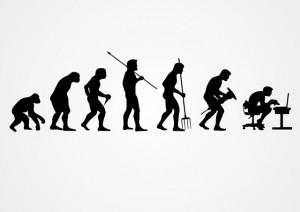 the evolution of man and chair